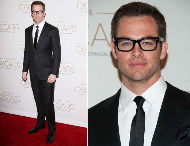 Chris Pine In Ermenegildo Zegna - Academy Of Motion Picture Arts And Sciences' Scientific & Technical Awards