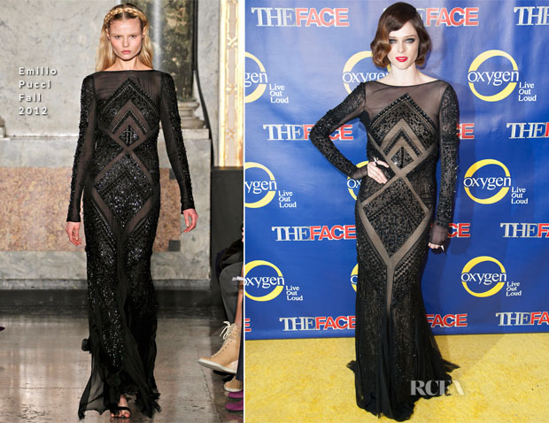 Coco Rocha In Emilio Pucci - 'The Face'  Premiere