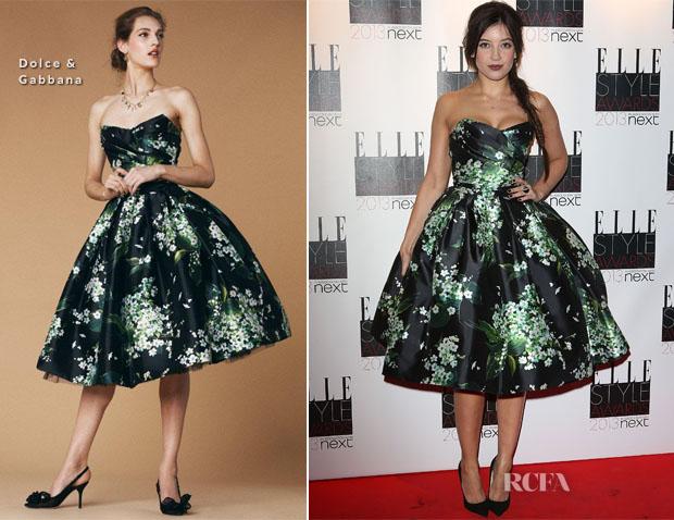 Daisy Lowe In Dolce & Gabbana Elle Style Awards