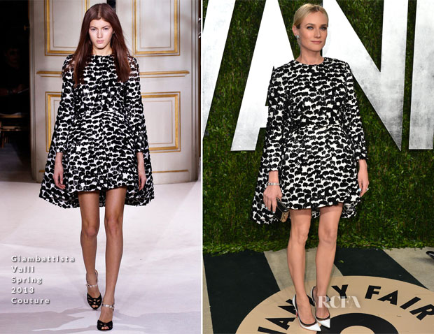 Diane Kruger In Giambattista Valli Couture - 2013 Vanity Fair Party