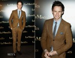 Eddie Redmayne In Topman - 'Les Miserables' Paris Premiere