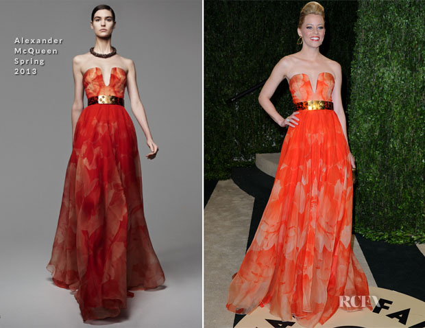 Elizabeth Banks In Alexander McQueen - 2013 Vanity Fair Party