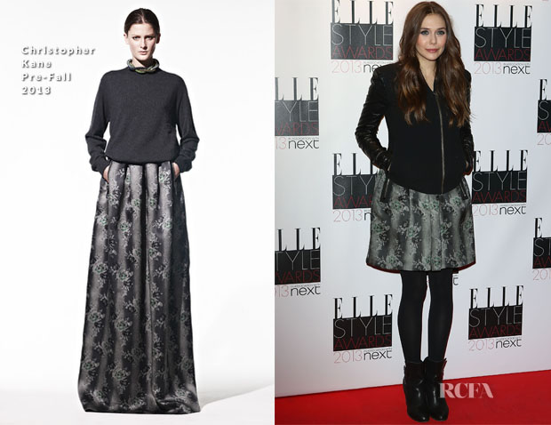 Elizabeth Olsen In Christopher Kane - 2013 Elle Style Awards