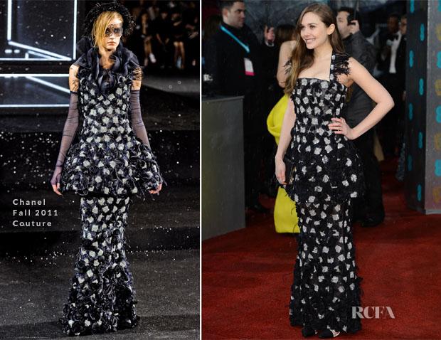 Elizabeth Olsen in Chanel Couture - 2013 BAFTA Awards