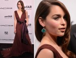 Emilia Clarke In Zac Posen - amfAR New York Gala To Kick Off Fall 2013 Fashion Week