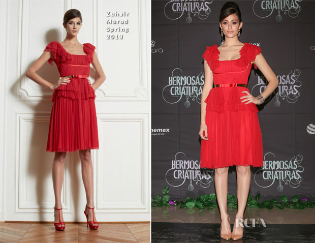 Emmy Rossum In Zuhair Murad - 'Beautiful Creatures' Mexico City Premiere