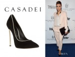 Eva Longoria's Casadei Pointed Toe Pumps