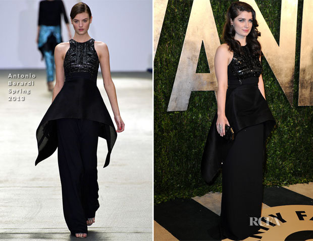 Eve Hewson In Antonio Berardi - 2013 Vanity Fair Party