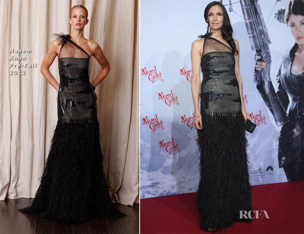 Famke Janssen In Naeem Khan - 'Hansel and Gretel Witch Hunters' Berlin Film Festival Premiere