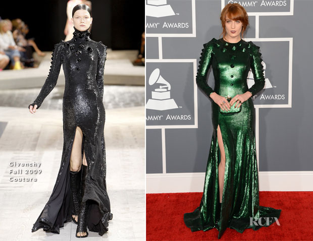 Florence Welch In Givenchy Couture  Grammys