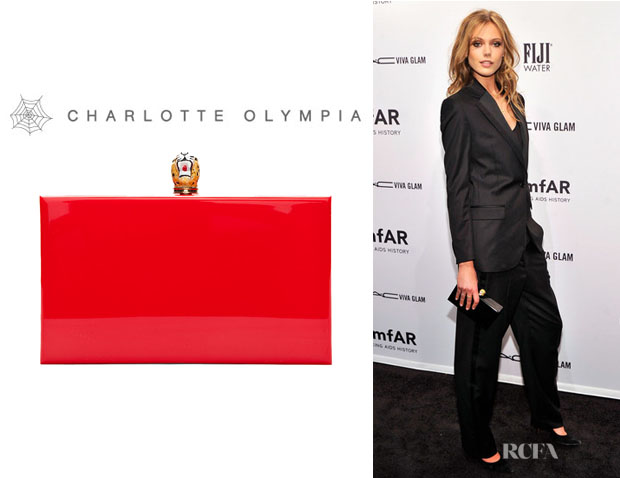Frida Gustavsson's Charlotte Olympia Perspex Leopard Clasp Clutch