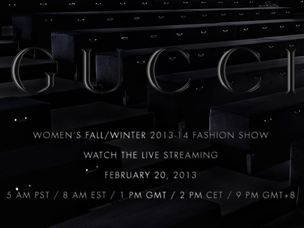 GUCCI WOMEN FW 13 14 STREAMING