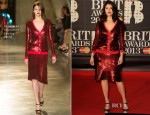 Gemma Arterton In Jonathan Saunders - 2013 Brit Awards