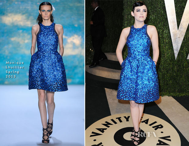 Ginnifer Goodwin In Monique Lhuillier - 2013 Vanity Fair Party