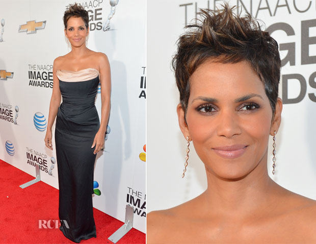 Halle Berry In Vivienne Westwood - 2013 NAACP Image Awards