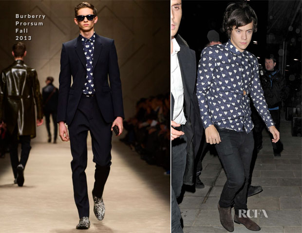 Harry Styles In Burberry Prorsum - 19th Birthday Party