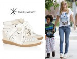 Heidi Klum's Isabel Marant 'Betty' Wedge Sneakers