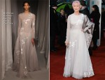 Helen Mirren In Nicholas Oakwell Couture - 2013 BAFTA Awards