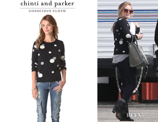 Hilary Duff's Chinti and Parker Polka Dot Cashmere Sweater