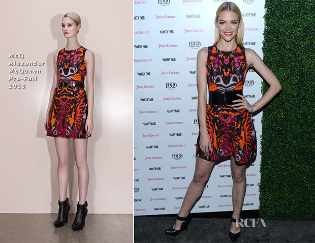 Jaime King In McQ Alexander McQueen - Vanity Fair And Juicy Couture Celebration Of The 2013 Vanities Calendar
