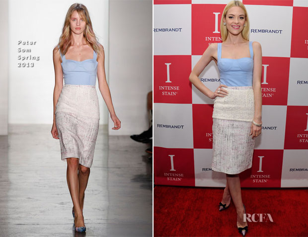 Jaime King In Peter Som - Rembrandt Hollywood Party Prep Event