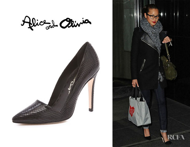 Jamie Chung's Alice + Olivia Dina Single Sole Pumps