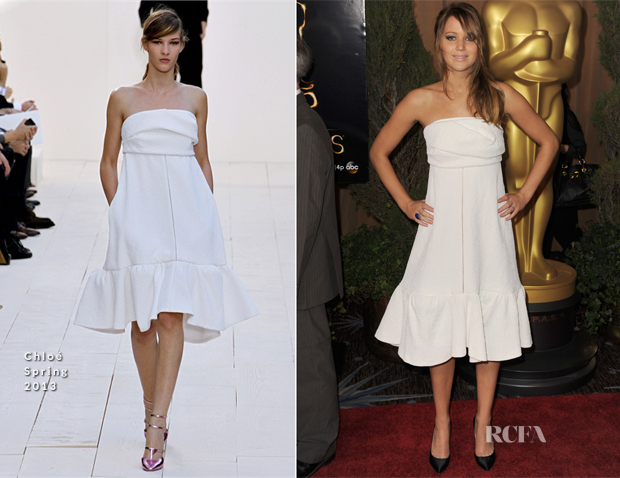 Jennifer Lawrence In Chloé - 85th Academy Awards Nominations Luncheon