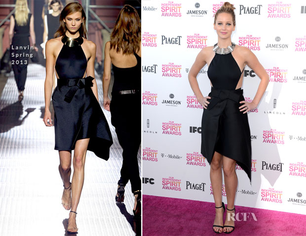 Jennifer Lawrence In Lanvin - 2013 Independent Spirit Awards