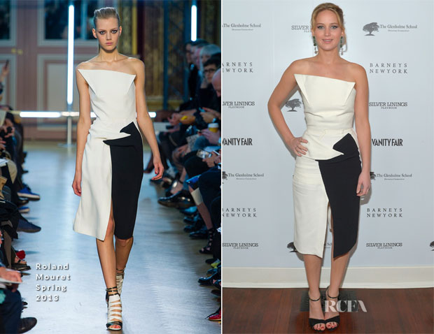 Jennifer Lawrence In Roland Mouret - Vanity Fair Campaign Hollywood 2013