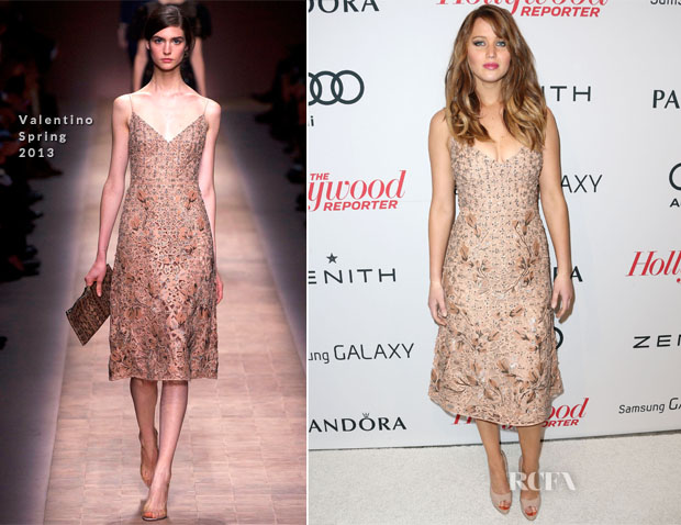Jennifer Lawrence In Valentino - The Hollywood Reporter Nominees' Night 2013