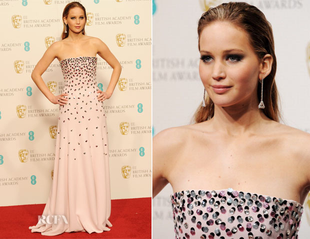 Jennifer Lawrence in Dior - 2013 BAFTA Awards