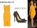 Jennifer Lawrence's Emilio Pucci Dress And Jimmy Choo 'Maya' Pumps