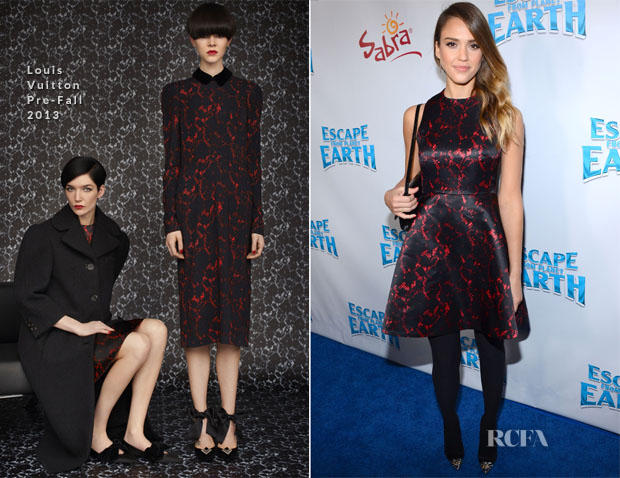 Jessica Alba In Louis Vuitton - 'Escape From Planet Earth' LA Premiere