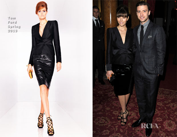 Jessica Biel & Justin Timberlake In Tom Ford - Tom Ford Fall 2013 Presentation
