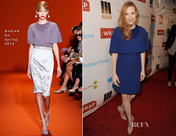 Jessica Chastain In Andrew Gn - TheWrap 4th Annual Pre-Oscar Party