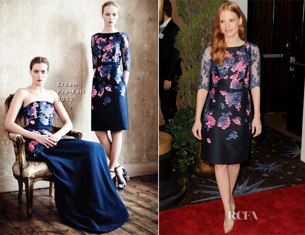 Jessica Chastain In Erdem - 85th Academy Awards Nominations Luncheon