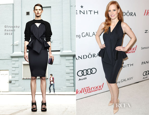 Jessica Chastain In Givenchy - The Hollywood Reporter Nominees' Night 2013