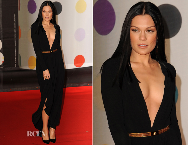 Jessie J In Versace - 2013 Brit Awards