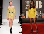 Jourdan Dunn In Balmain - 2013 Brit Awards