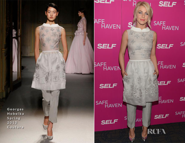Julianne Hough In Georges Hobeika Couture - 'Safe Haven' New York Premiere