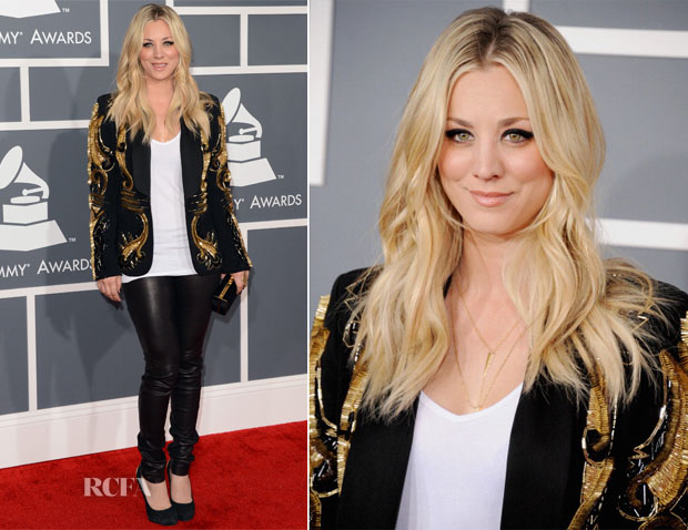 Kaley Cuoco In Amen - 2013 Grammy Awards