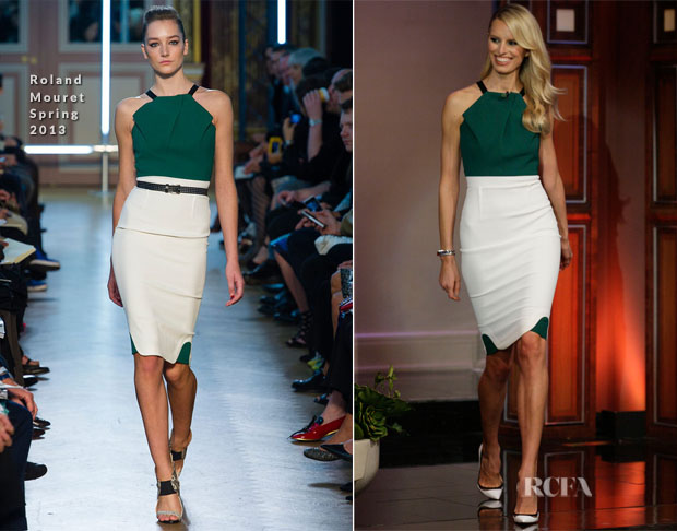 Karolina Kurkova In Roland Mouret - The Tonight Show with Jay Leno