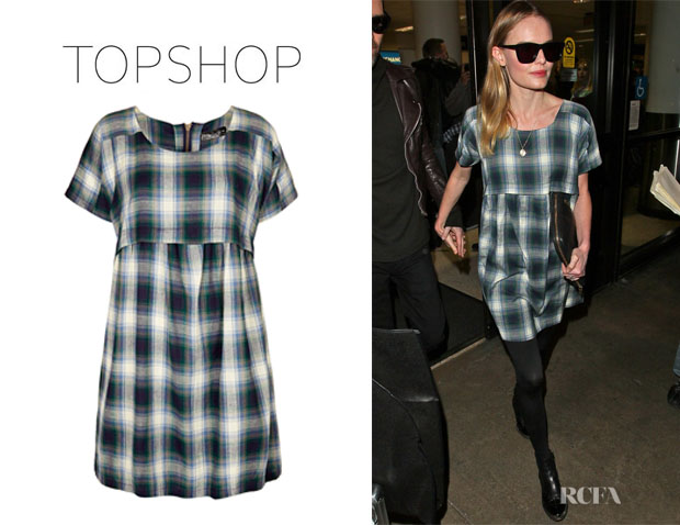 Kate Bosworth's Topshop Check Smock Dress