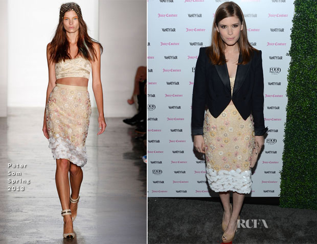 Kate Mara In Peter Som - Vanity Fair And Juicy Couture Celebration