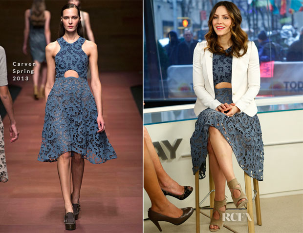 Katharine McPhee In Carven - The Today Show