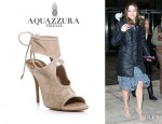 Katharine McPhee's Aquazzura 'Sexy Thing' Cutout Booties