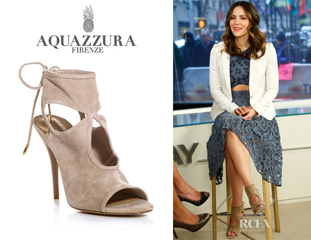 Katharine McPhee's Aquazzura 'Sexy Thing' Cutout Booties1