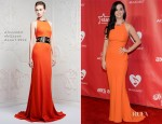 Katy Perry In Alexander McQueen - 2013 MusiCares Person Of The Year Gala Honoring Bruce Springsteen