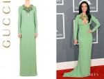 Katy Perry's Gucci Gown With Hand Embroidered Floral Neckline
