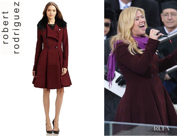 Kelly Clarkson's Robert Rodriguez Fit & Flare Coat